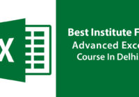 Best Institute For Advanced Microsoft Excel Course In Delhi