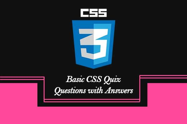 Basic CSS Quiz Questions with Answers