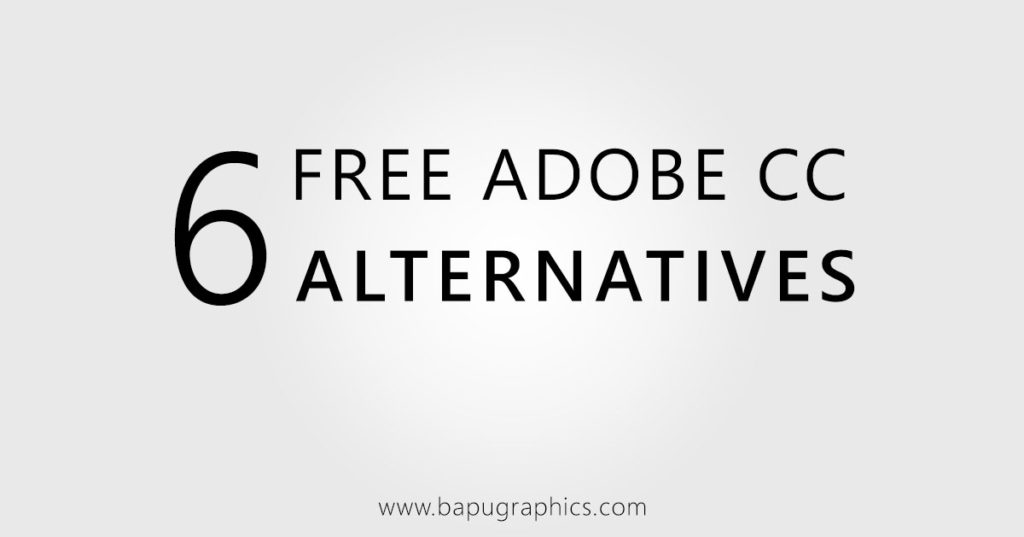 Free Adobe CC Software Alternatives