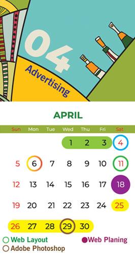 calendar Bapu Graphics April 2020