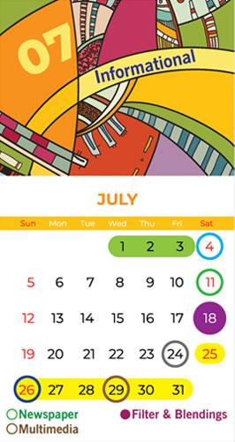 Calendar Bapu Graphics July 2020
