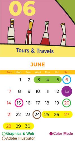 Calendar Bapu Graphics June 2020
