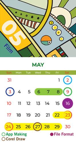 Calendar Bapu Graphics May 2020