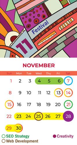 Calendar Bapu Graphics November 2020