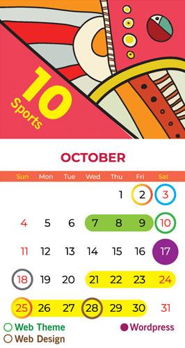 Calendar Bapu Graphics October 2020