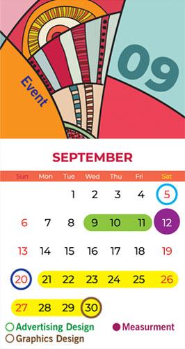 Calendar Bapu Graphics September 2020