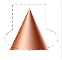 Make a cone in Photoshop Photoshop Tutorial.Cone 05