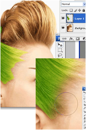 Photoshop Tutorial Change Hair 6