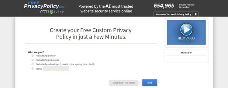 Free Privacy Policy
