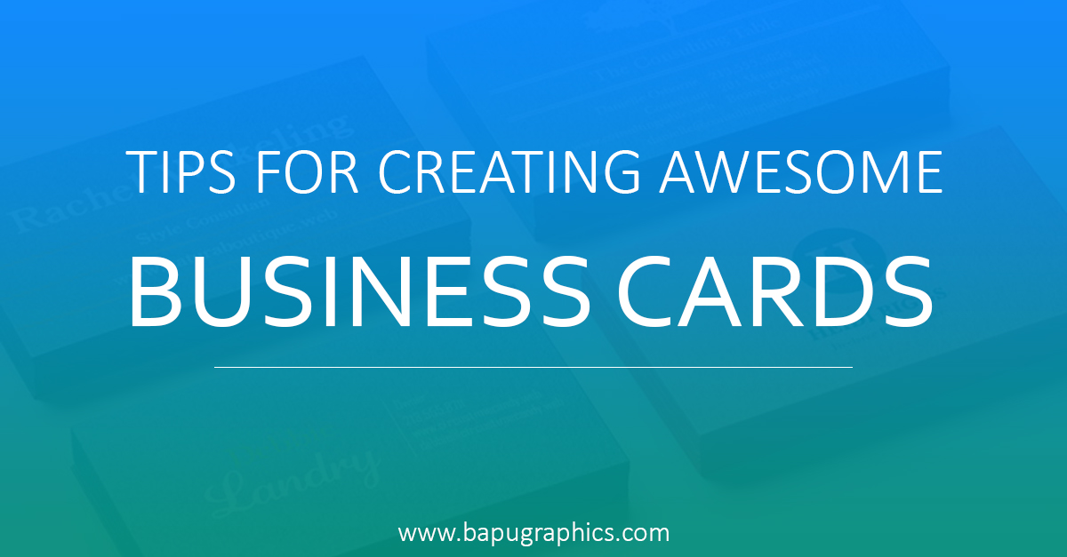 Creating Awesome Business Cards