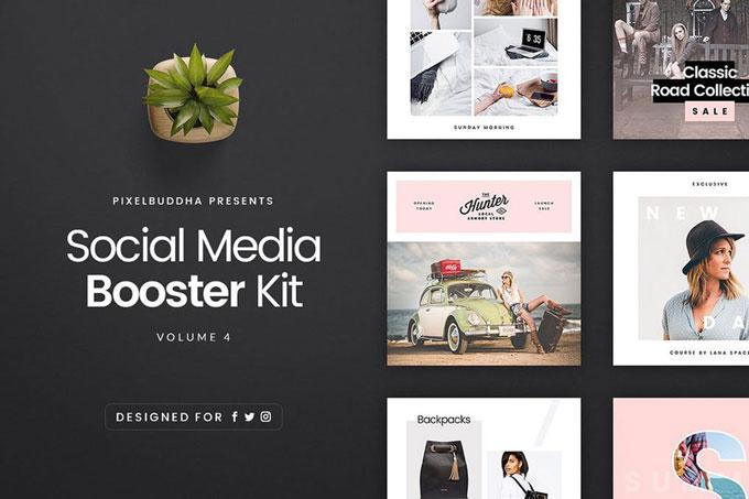social media banner kit
