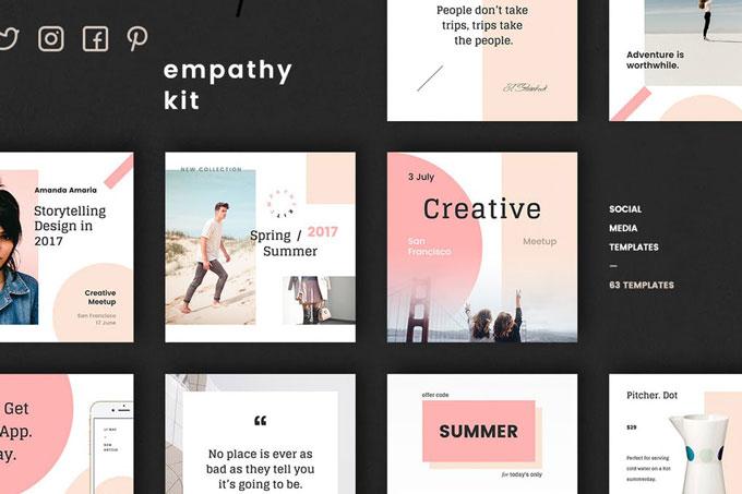 social media pre made templates