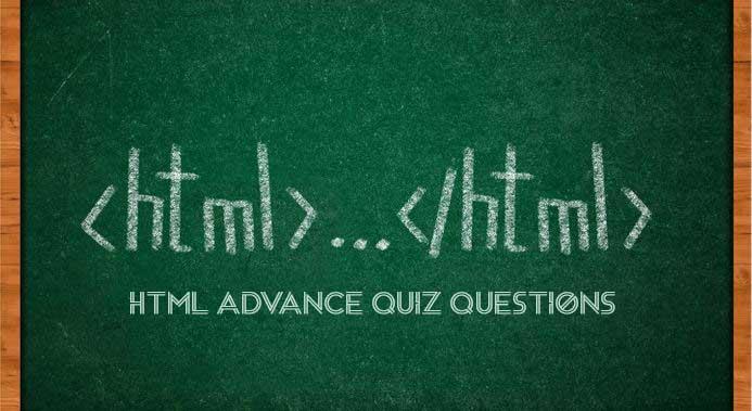 Html Advance Quiz Questions 6
